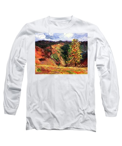 Loose Landscape Long Sleeve T-Shirt by Janet Garcia