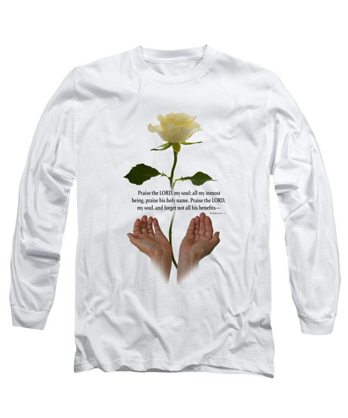 Lord, O My Soul Long Sleeve T-Shirt by Ann Lauwers