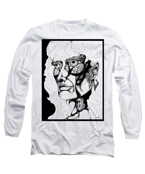 Long Sleeve T-Shirt featuring the drawing Lord Of The Flies Study by Curtiss Shaffer