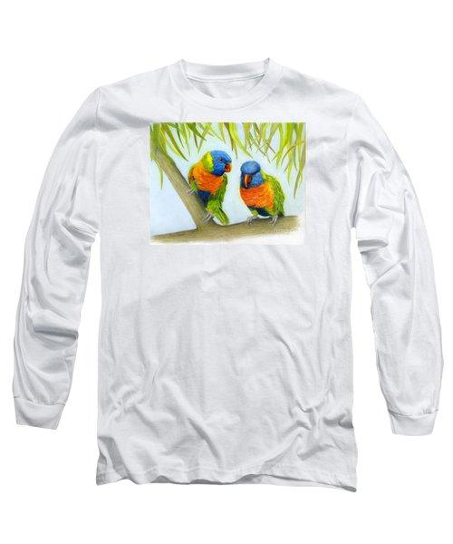 Lorikeet Pair Long Sleeve T-Shirt by Phyllis Howard