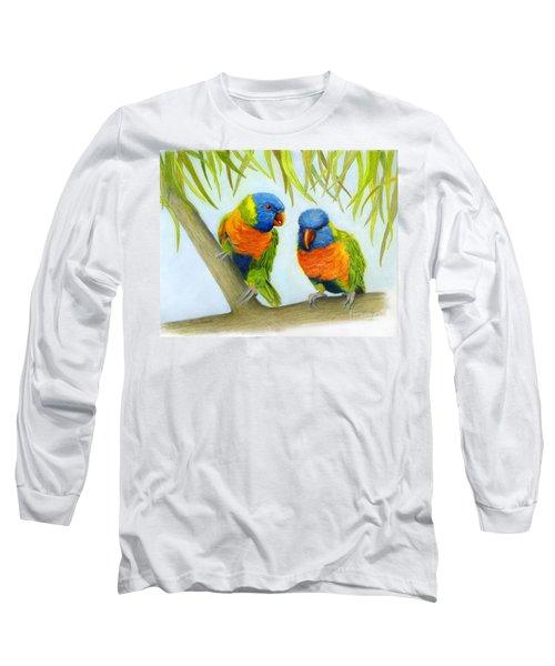Lorikeet Pair Long Sleeve T-Shirt