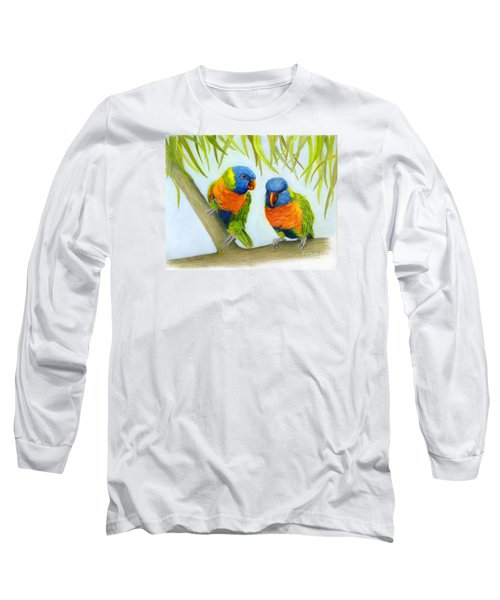 Lorikeet Pair Long Sleeve T-Shirt