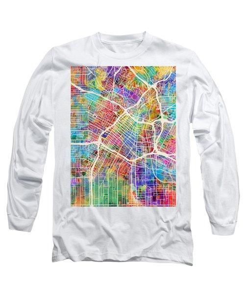 Los Angeles City Street Map Long Sleeve T-Shirt