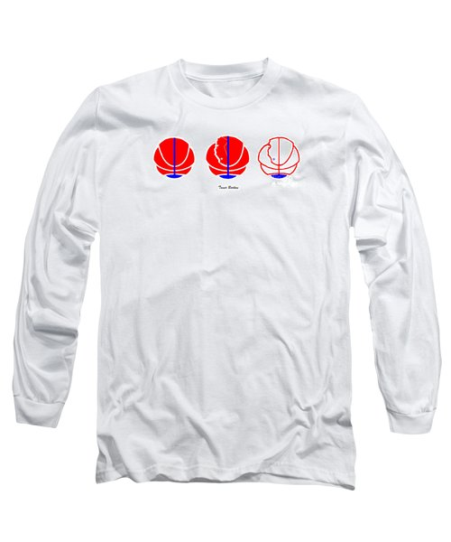 Long Sleeve T-Shirt featuring the digital art Los Angeles Clippers Logo Redesign Contest by Tamir Barkan