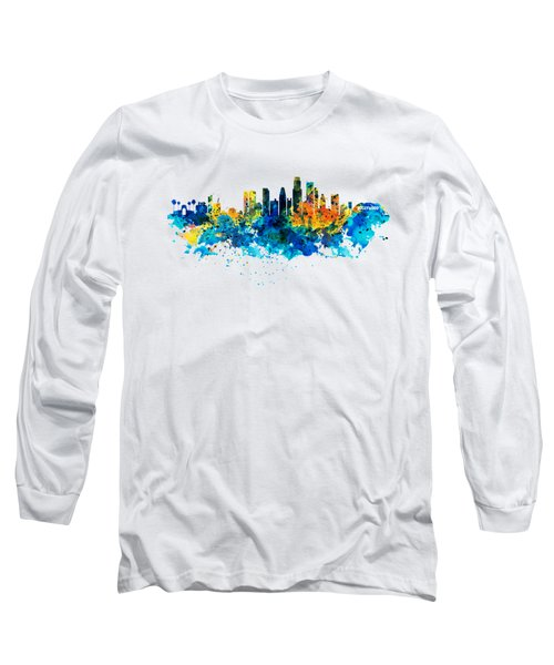 Los Angeles Skyline Long Sleeve T-Shirt