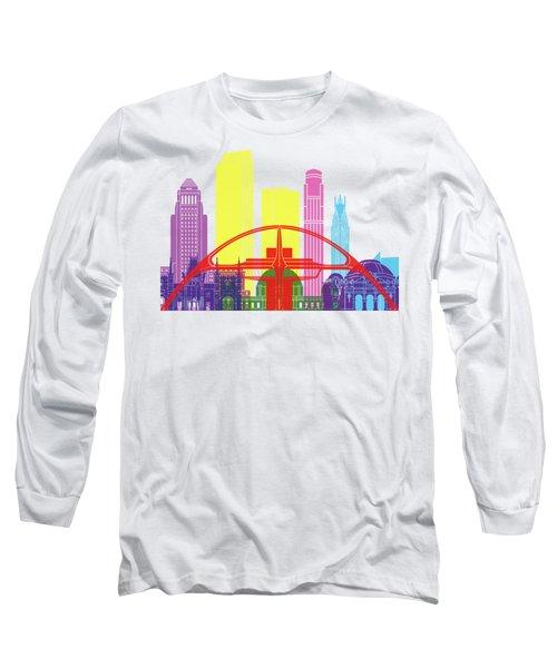Los Angeles Skyline Pop Long Sleeve T-Shirt
