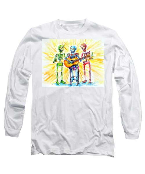 Long Sleeve T-Shirt featuring the painting Los Tres Cantantes by Heather Calderon
