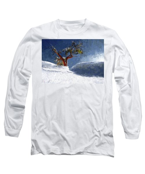 Lost In The Snow Long Sleeve T-Shirt by Alex Galkin
