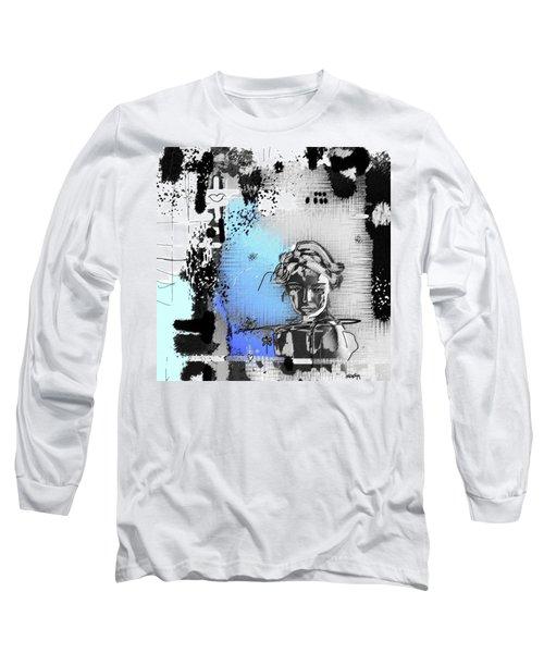 Long Sleeve T-Shirt featuring the digital art Lost Love by Sladjana Lazarevic