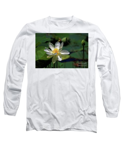 Lotus Blossom Long Sleeve T-Shirt by Paul Mashburn