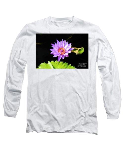 Lotus Splendor Long Sleeve T-Shirt by Deborah Crew-Johnson