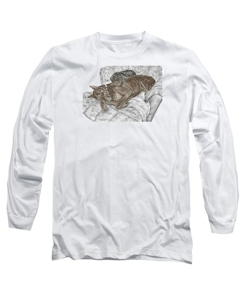 Lounge Lizards - Doberman Pinscher Puppy Print Color Tinted Long Sleeve T-Shirt