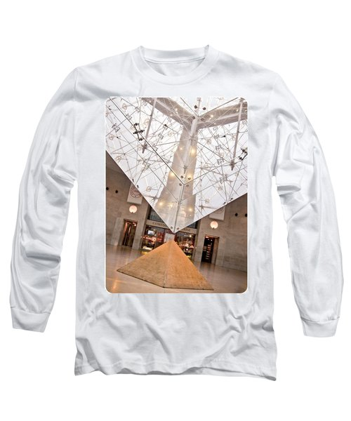 Long Sleeve T-Shirt featuring the photograph Louvre Pyramid by Silvia Bruno