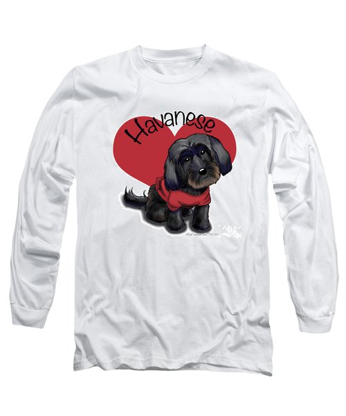 Lovable Black Havanese Long Sleeve T-Shirt