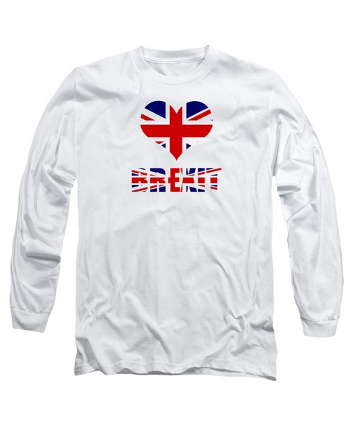 Love Brexit Long Sleeve T-Shirt by Roger Lighterness