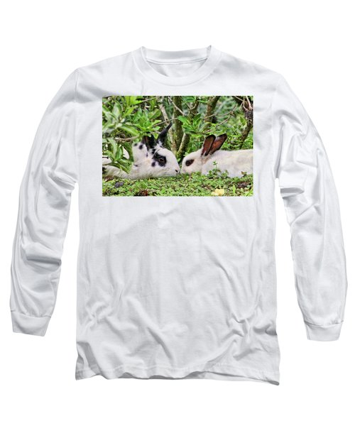 Love Bunnies In Costa Rica Long Sleeve T-Shirt by Peggy Collins