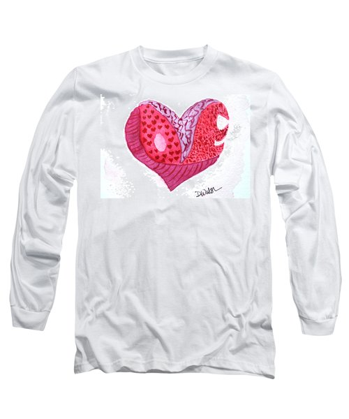 Long Sleeve T-Shirt featuring the painting Love Heart by Donna Walsh