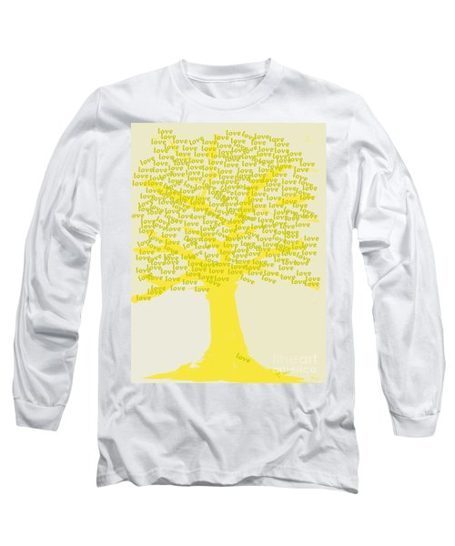 Long Sleeve T-Shirt featuring the painting Love Inspiration Tree by Go Van Kampen