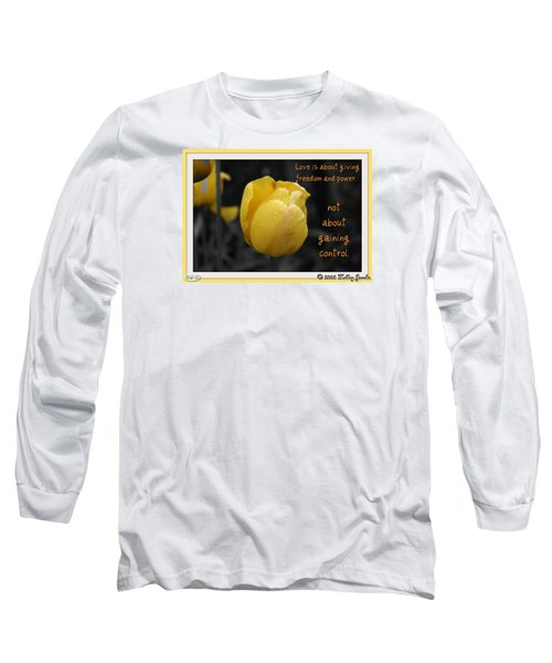 Love Is About Giving Long Sleeve T-Shirt by Holley Jacobs
