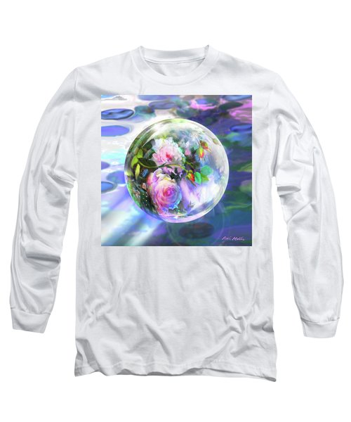 Long Sleeve T-Shirt featuring the digital art Love Is All Around by Robin Moline