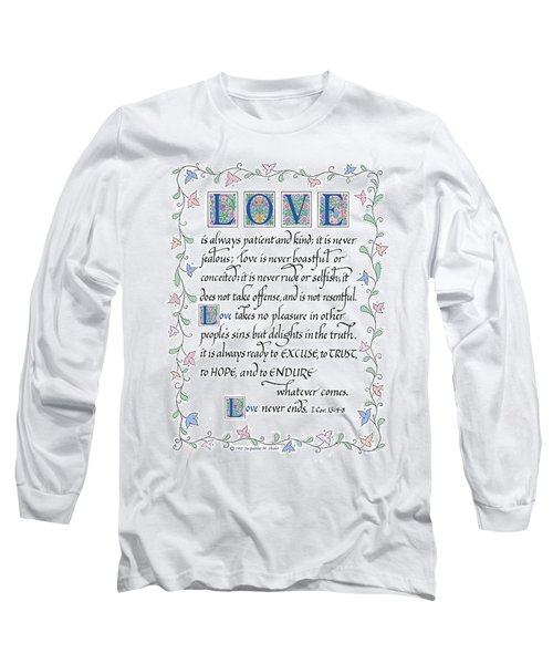 Love Is Always Patient-with Border Long Sleeve T-Shirt