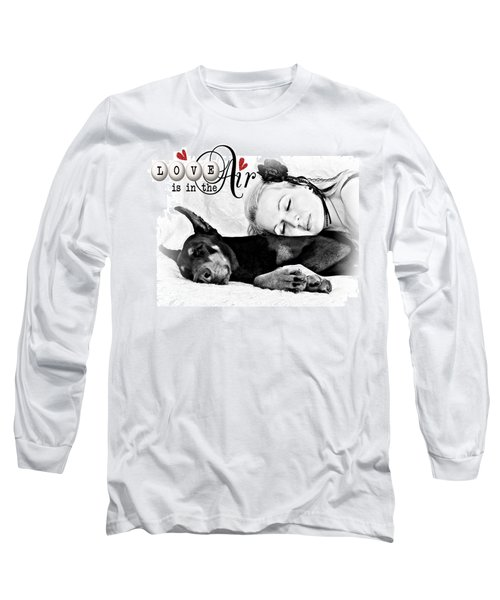 Long Sleeve T-Shirt featuring the digital art Love Is In The Air by Kathy Tarochione