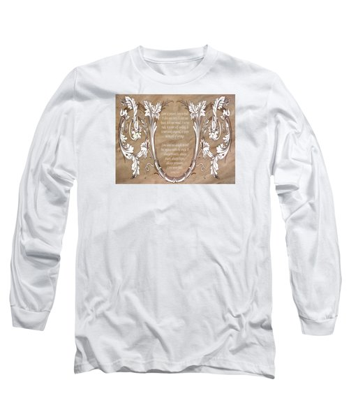 Long Sleeve T-Shirt featuring the digital art Love Is Patient by Angelina Vick