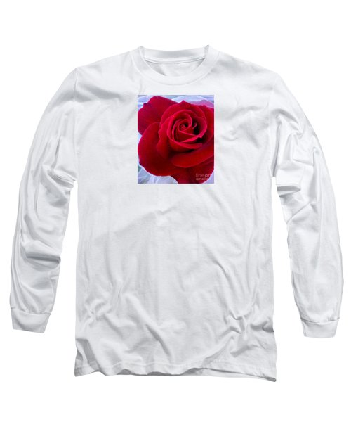 Long Sleeve T-Shirt featuring the photograph Love Red Rose by Haleh Mahbod