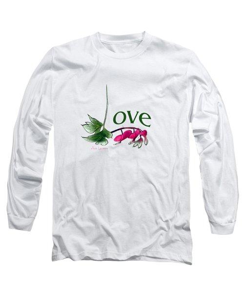 Long Sleeve T-Shirt featuring the digital art Love Shirt by Ann Lauwers