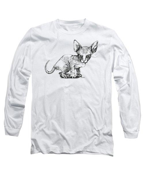 Love Sphynx Long Sleeve T-Shirt by Akiko Okabe