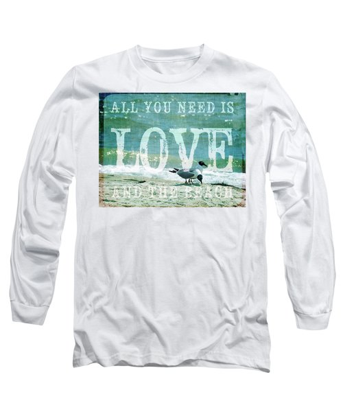 Long Sleeve T-Shirt featuring the photograph Love The Beach by Jan Amiss Photography