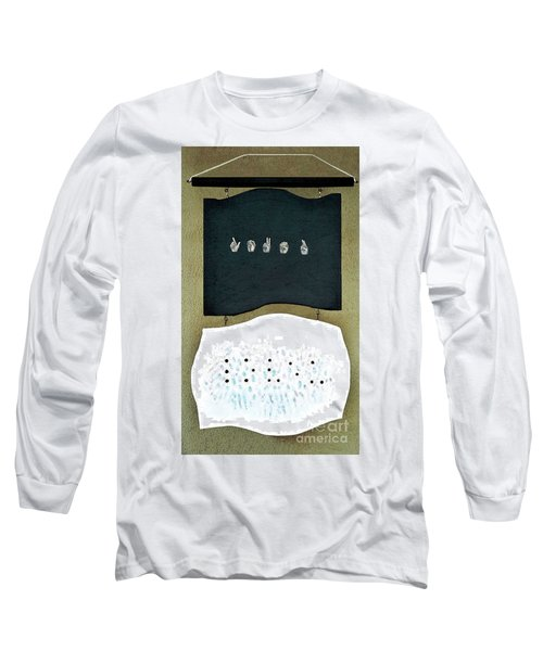 Long Sleeve T-Shirt featuring the painting Love U by Fei A