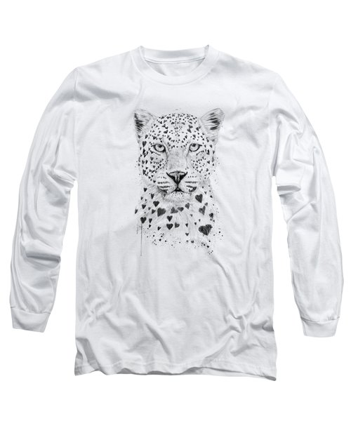 Lovely Leopard Long Sleeve T-Shirt by Balazs Solti
