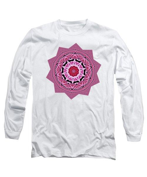 Loving Rose Mandala By Kaye Menner Long Sleeve T-Shirt