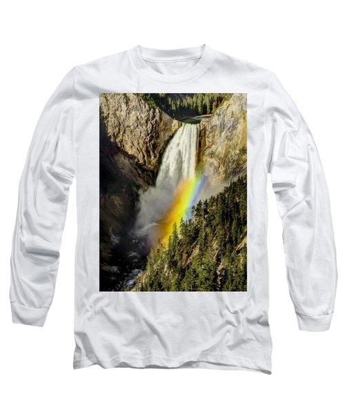 Lower Falls- Yellowstone Park Long Sleeve T-Shirt