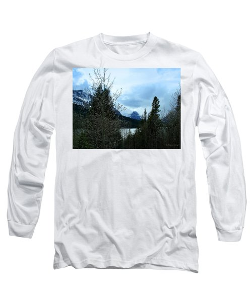 Lower Two Med Lake Through The Trees Long Sleeve T-Shirt