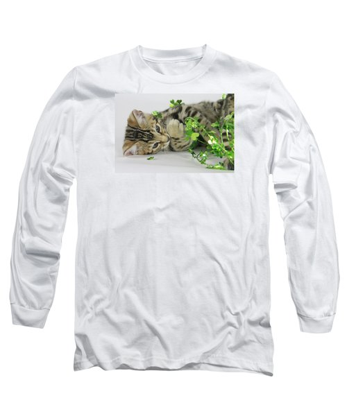 Lucky Kitten Long Sleeve T-Shirt by Shoal Hollingsworth