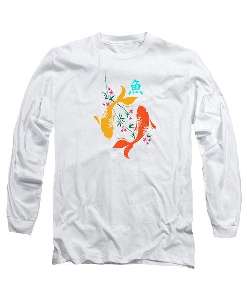 Lucky Koi Fish Long Sleeve T-Shirt by Naviblue