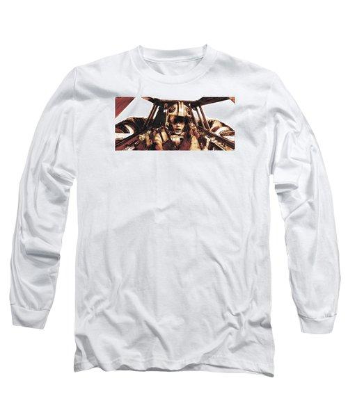 Luke Snowalker Long Sleeve T-Shirt by Kurt Ramschissel