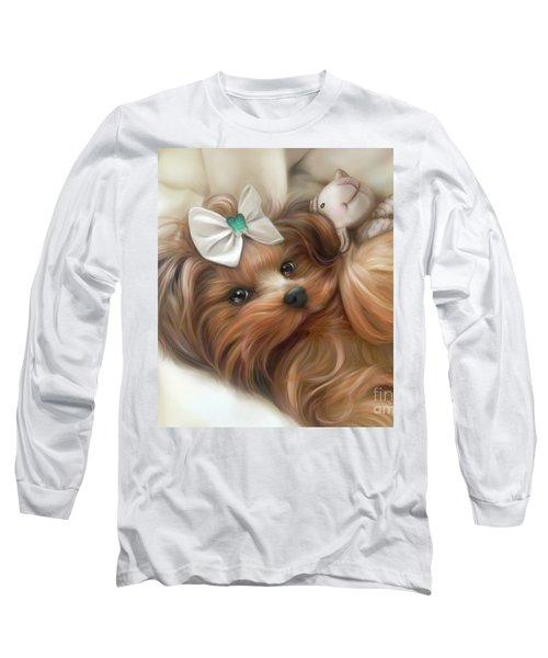 Lulu And Mr.lamb Long Sleeve T-Shirt by Catia Cho
