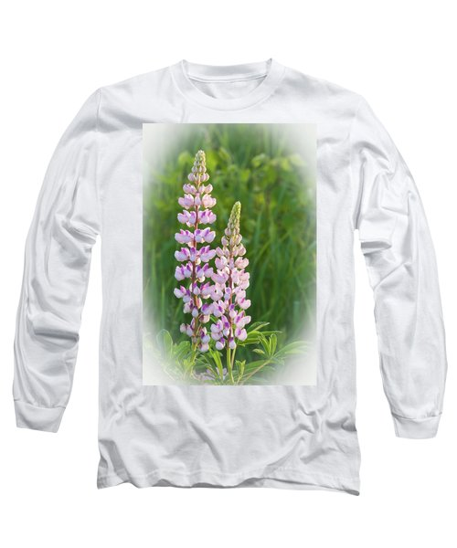 Long Sleeve T-Shirt featuring the photograph Lupine Pair by Paul Miller