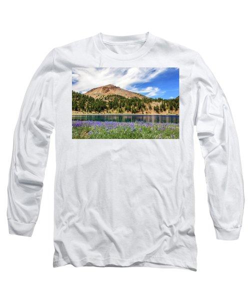 Lupines Lake And Lassen Long Sleeve T-Shirt