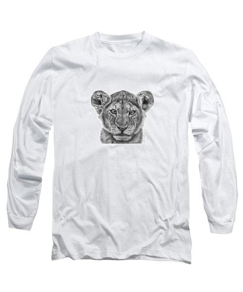 Lyla The Lion Cub Long Sleeve T-Shirt by Abbey Noelle