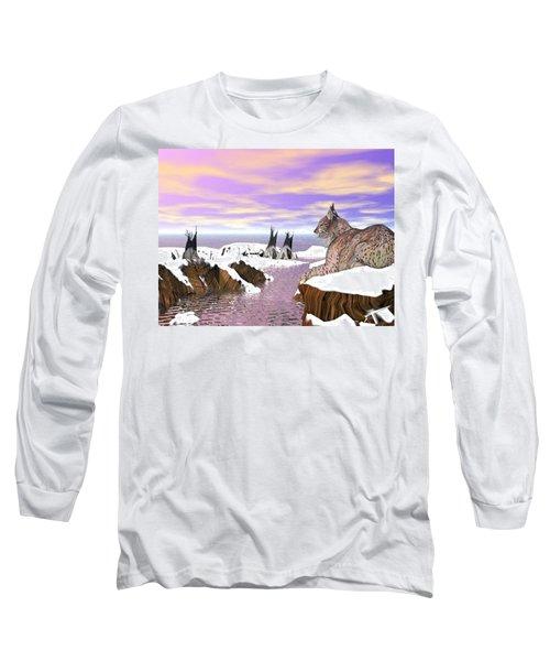 Lynx Watcher Render Long Sleeve T-Shirt
