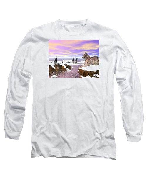 Lynx Watcher Render Long Sleeve T-Shirt