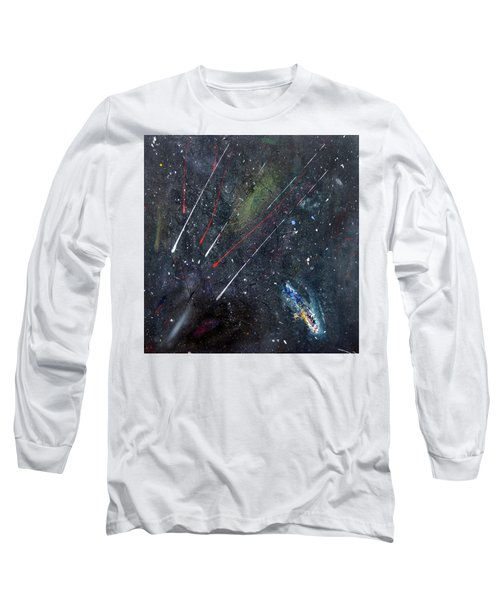 Long Sleeve T-Shirt featuring the painting M51 by Michael Lucarelli