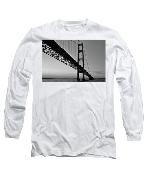Mackinac Bridge At Sunset Long Sleeve T-Shirt