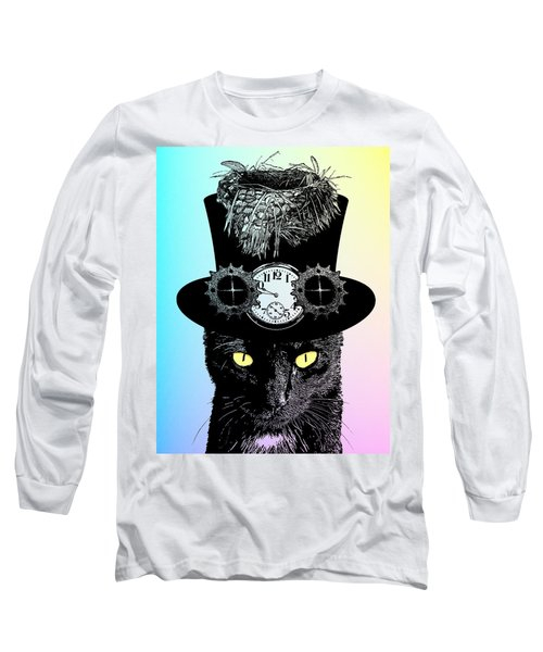 Mad Hatter Cat Long Sleeve T-Shirt