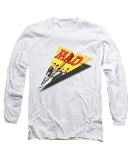 155 Mad Paper Airplane Long Sleeve T-Shirt
