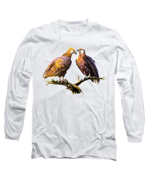 Madagascar Fish Eagle  Long Sleeve T-Shirt by Anthony Mwangi
